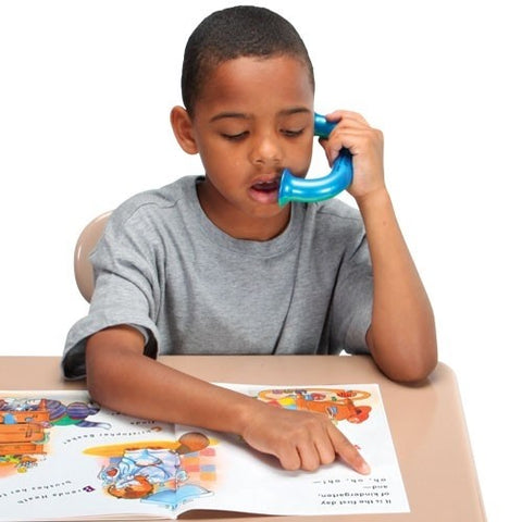 Students with learning disabilities can benefit from the Toobaloo whisper phone.