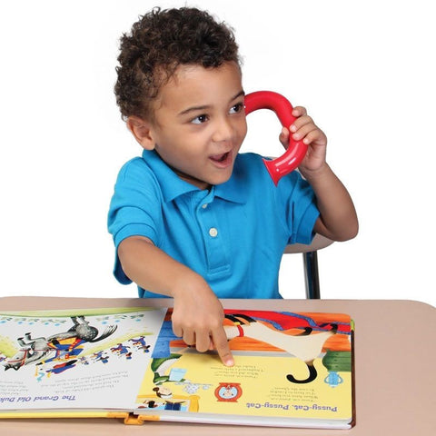 Whisper phones are reading helpers for kids that can aid your child when reading over this winter break.