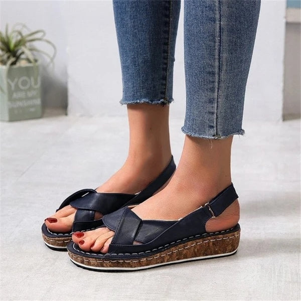Frauen Casual Daily Comfy Open Toe Schnalle Sandalen