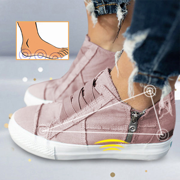 Frauen mit niedrigem Absatz All Season Sneakers Canvas Slip-On