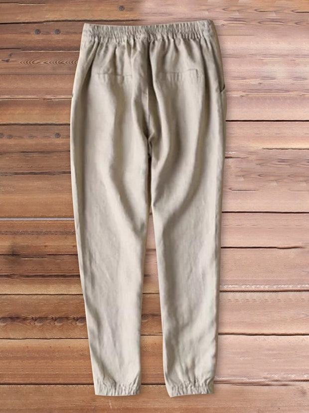 Frauen Casual Baumwolle Plain Bottoms