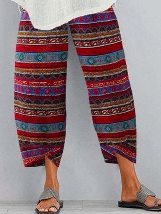 Frauen-Red Tribal Vintage-Hose