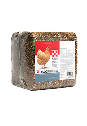 Image of Purina® Flock Block poultry feed