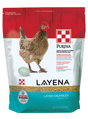 Layena® Layer Feed Crumbles in 10lb package
