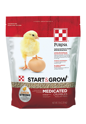 Purina® Start & Grow Medicated Chicken Feed 5 lb bag