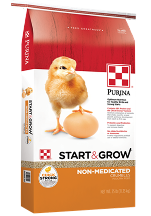 Purina® Start & Grow® poultry feed 25 lb bag