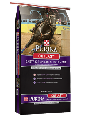 Purina® Outlast® Horse Feed Gastric Support Supplement bag