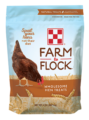 Purina Farm to Flock Wholesome Hen Treats 2 lb packaging
