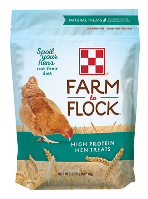 Purina Farm to Flock High Protein Hen Treats 2 lb packaging