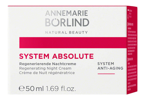 125,90€/100ml ANNEMARIE BÖRLIND SYSTEM ABSOLUTE Regenerierende Nachtcreme 50ml