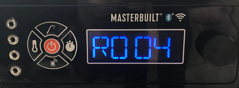 "LCD panel displaying revision number ""R004"""