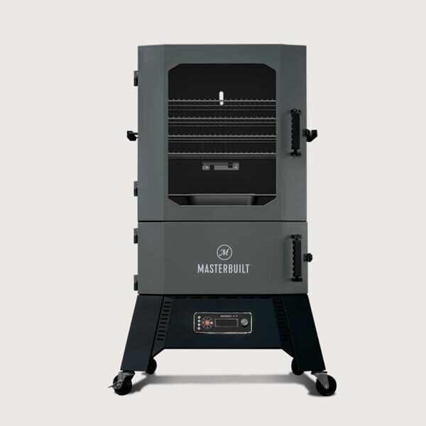 "40"" Digital Charcoal Smoker Closed"