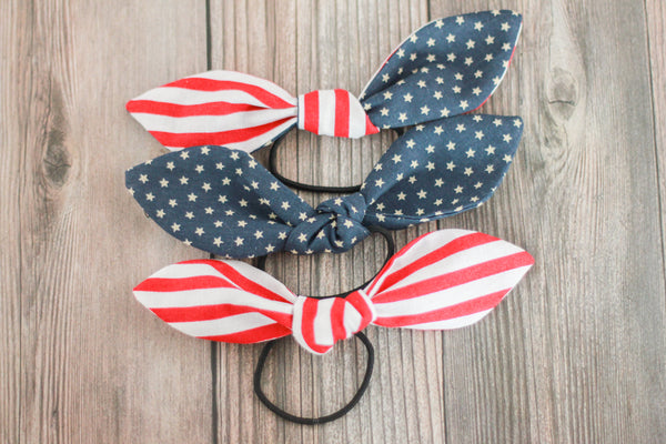 USA Hair Bow Ties