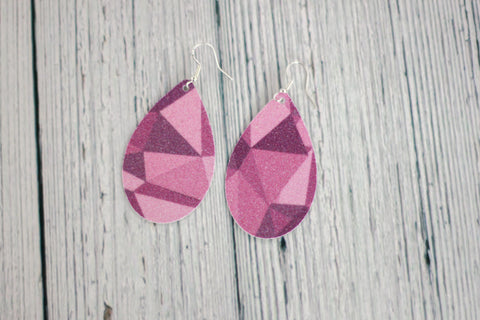 Purple Wall Earrings