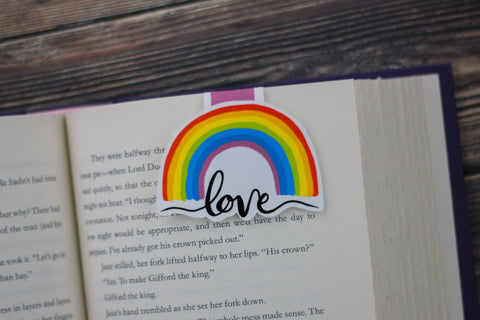 Rainbow Love Bookmark