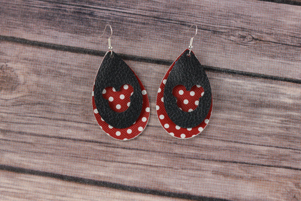 Buffalo Plaid Mouse Earrings