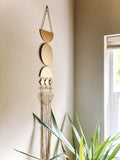 Gold Moon Phase Macrame Wall Hanging