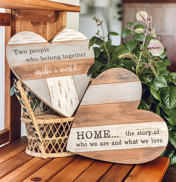 Naturally Yours Heart Shaped Wall Plaque