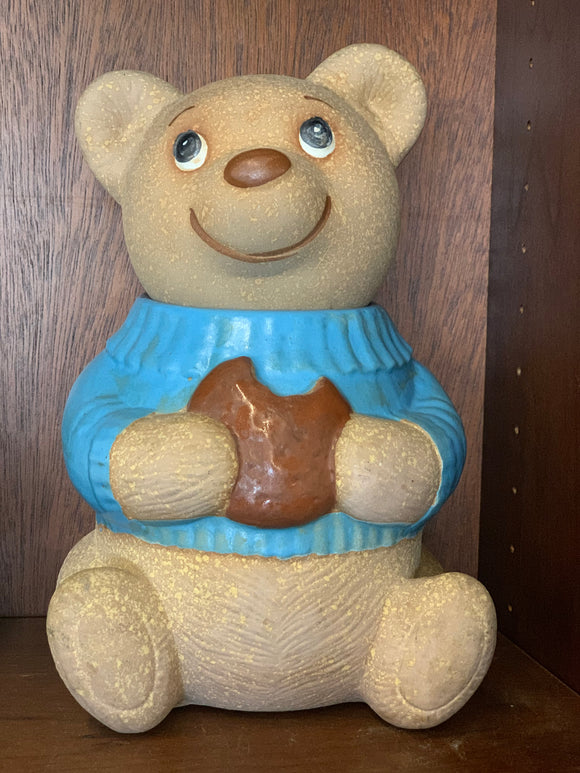 Blue Shirt Bear Cookie Jar
