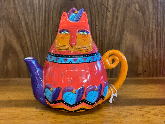 Laurel Burch Cat Teapot