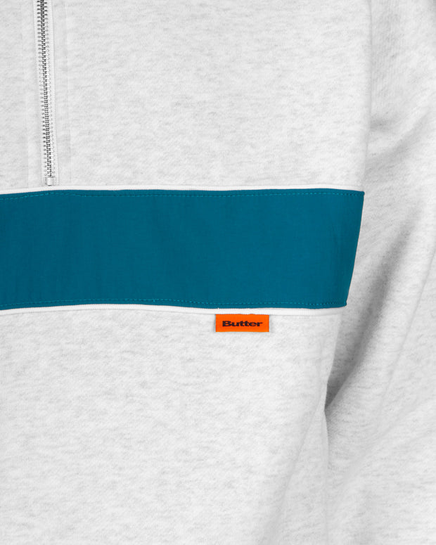 Butter Goods - Axis 1/4 Zip Pullover - Heather Grey / Dark Teal