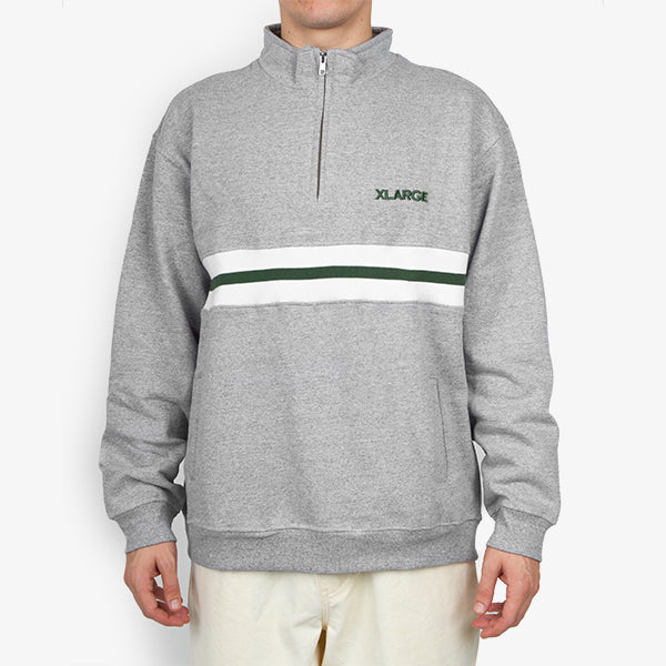 1/4 Zip Fleece - Grey Marle