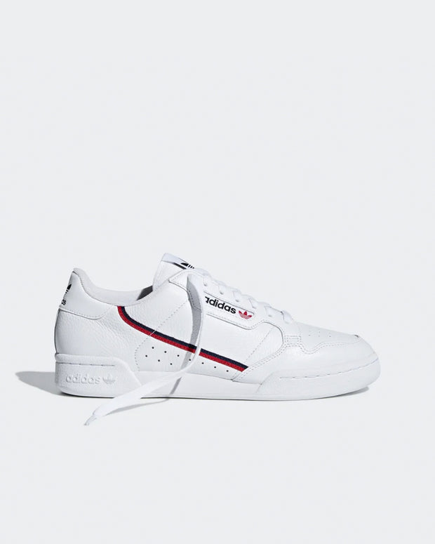 Adidas Originals - Continental 80  - White/Scarlet/Collegiate Navy
