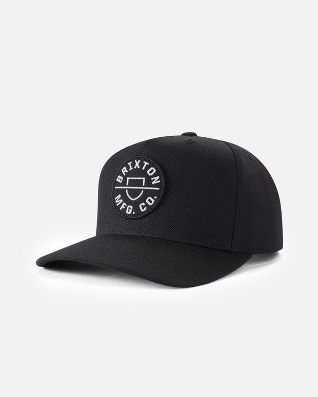 The Brixton Crest C MP Cap in Black