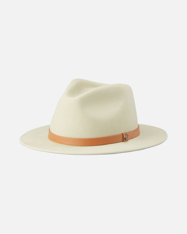The Brixton Messer Fedora Hat in Gravel