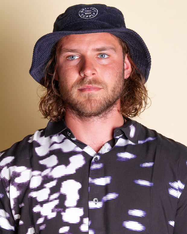 The Brixton Oath Bucket Hat in Navy