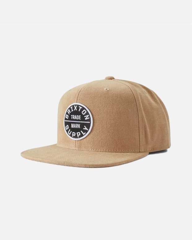 The Brixton Oath III Snapback Cap in Dark Khaki