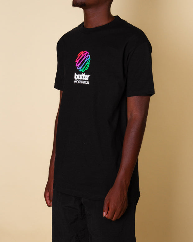 Sure to catch your eye, the Telecom Tee from Butter Goods in black features a colourful logo printed at the front. Constructed on a mid-weight pure cotton t-shirt with a regular fit, this tee boasts seasonless style.