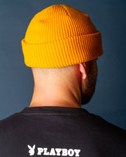 The latest edition to the headwear tab is the Butter Goods Wharfie Beanie in Burnt Yellow. This bold option is made from premium acrylic and features a woven 'Butter' label tab at the edge of the fold. With a shallow fit and comfortable shape, this beanie will be your new everyday wear.