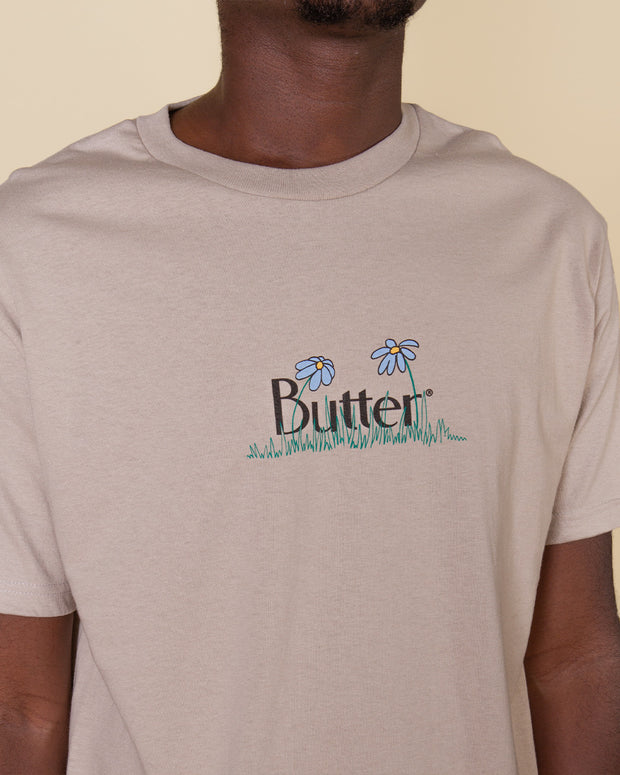 Butter Goods  - Flowers Classic Logo Tee - Cream