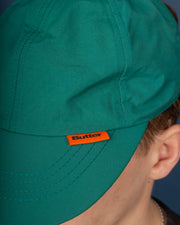 Reversible 6 Panel Cap - Teal / Khaki