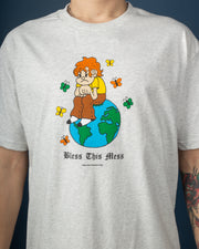 Bless This Mess Tee - Ash Grey