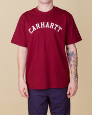 Carhartt - University Tee - Bordeaux / White