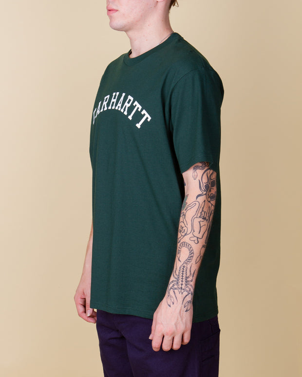 Carhartt - University Tee - Bottle Green / White