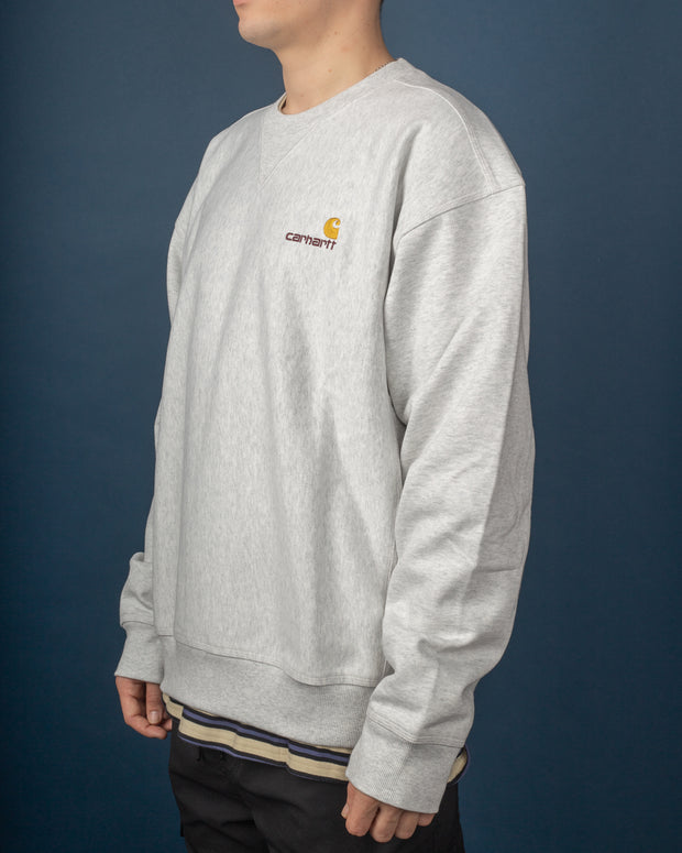 American Script Sweat - Ash Heather