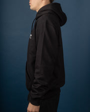 Hooded Carhartt Sweat  - Black / White