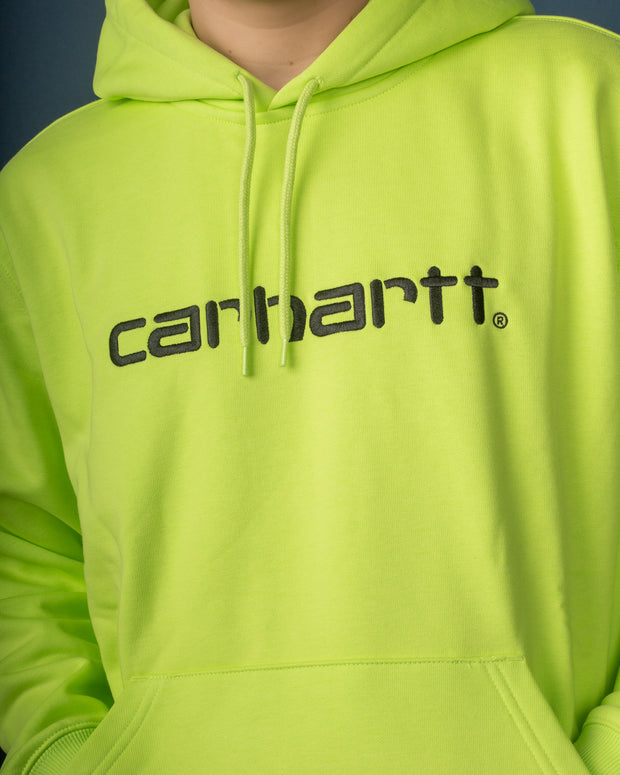 Carhartt - Hooded Carhartt Sweat  - Lime / Black