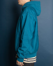 Hooded American Script Sweat  - Moody Blue