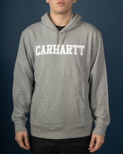 Carhartt - Hooded College Sweat - Grey Heather / White