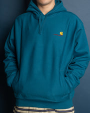 Carhartt - Hooded American Script Sweat  - Moody Blue