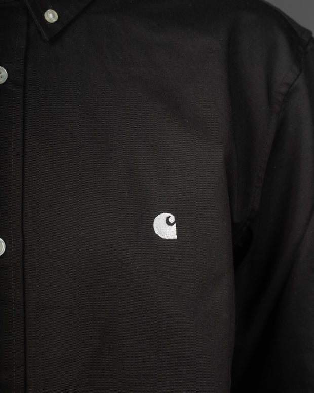Carhartt - Madison L/S Shirt - Black / White