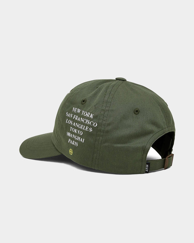 Central Park CV 6 Panel Hat - Dusty Olive