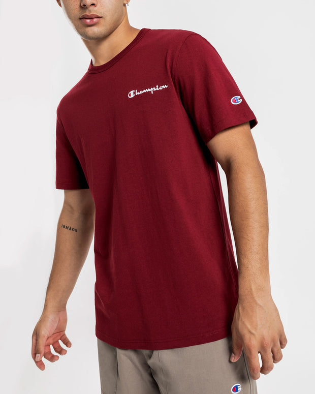 Champion - Heritage Embroidered Script Tee - Sepia Red