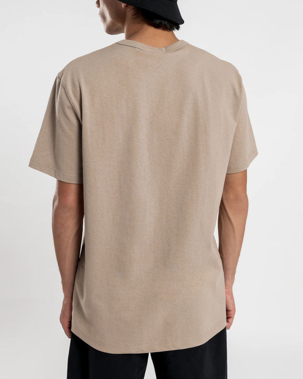 Champion - Heritage Embroidered Script Tee - Dark Khaki