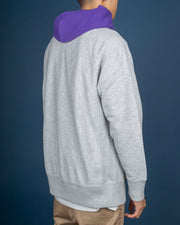 RW Oversize Colour Block Hood - Oxford Heather