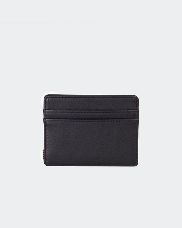 Charlie Leather Wallet + RFID - Black Pebbled Leather